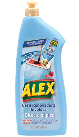 ALEX Straight On Renovation Colourless Wax is the ideal treatment to REGAIN the original shine on your tiled, marble and ceramic floors.